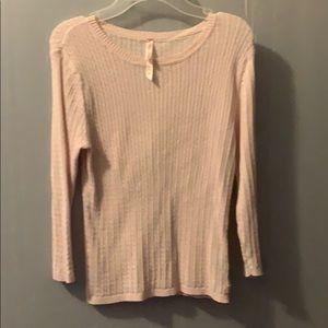 5/$25 Ralph Lauren Polo Jeans Pink Sweater sz L